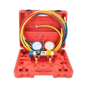 800 Psi A c Refrigeration Dual Manifold Gauges Valve Set R404a R410a R22 W Case