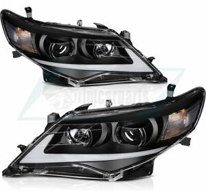 Fits 2012 2014 Toyota Camry Led Headlight Assembly Driver And Passenger Sides