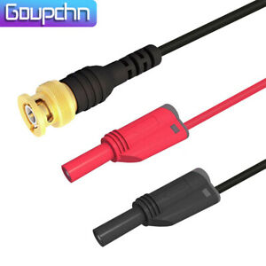 Goupchn Bnc Male Gold Plated To Dual Shrouded Banana Plug Test Probe Lead Cable