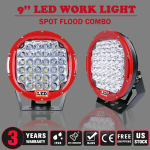 9 Inch 96w Round Spot Led Work Light For Jeep Off road 4wd Bumper Vs 185w Blk