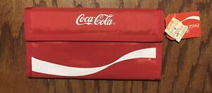 Red COCA COLA WALLET Checkbook NWT Authorized Promo Coke Advertising1987