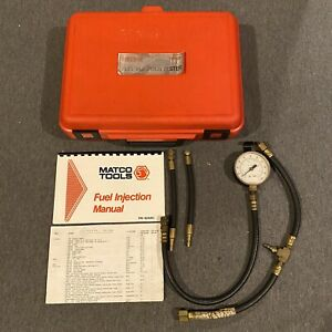 Matco Tools Model Fit448 Fuel Pressure Test Tester Kit W Case