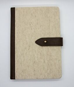 Martha Stewart Ms101m Linen Journal With Tab 256 Pages 6x8in