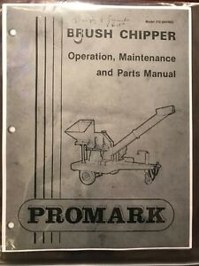 Promark Gravely 210 Brush Chipper Parts Maintenance And Operators Manual