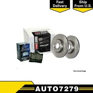 Centric Parts Front And Rear 1pcs Disc Brake Pad And Rotor Kit For Chrysler 300
