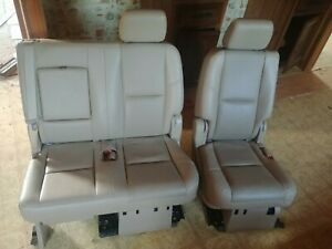 Rear 2nd Row Seat Tan Leather Fits 2010 Suburban