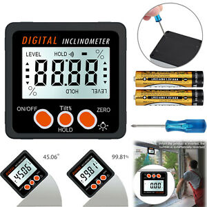 0 360 Lcd Digital Level Box Angle Finder Inclinometer Protractor Gauge Magnet