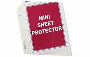 Top Loading Heavyweight Poly Sheet Protectors Clear Mini Size 8 5 X 5 5 Inch