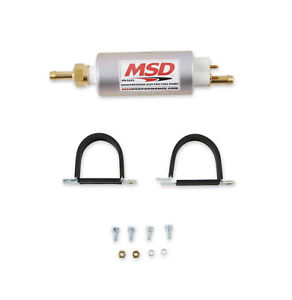 Msd 2225 High Pressure In Line Electric Fuel Pump Capable 525hp 48 Gph 43 Psi