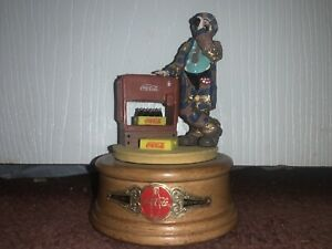 Coca-Cola Emmett Kelly Figurine At The Red Cooler 1994  Limited Ed. With Box