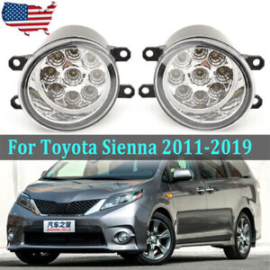 Us Led Fog Light For 2011 2019 Toyota Sienna Front Lamp Driving Assembly Clear