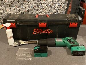 Extractor Ext pro nc18 Auto Glass Windshield Removal Tool W Case 2 Batteries