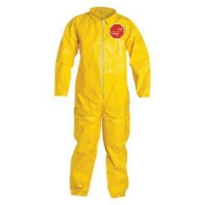 Dupont Qc120syl4x001200 Coverall Tychem 2000 Material Yellow 4xl 12 Pack