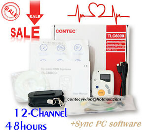 Tlc6000 Oled Dynamic Holter Ecg 48 Hours 12 lead Recorder Monitor pc Software ce