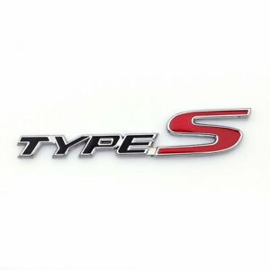 For Acura Type S Side Rear Metal Badge Logo Emblem Tl Tlx Tsx Rsx Cl Adhesive