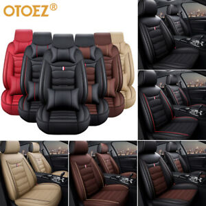 Car 5 Seat Covers Full Set W Durable Leather Universal For Auto Sedan Suv Truck