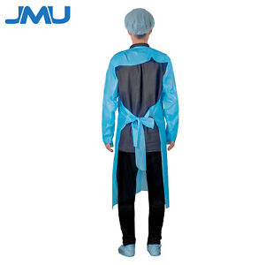 Disposable Cpe Fluid Resistant Isolation Gowns With Thumb Hole Protective Suit