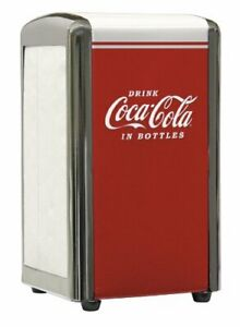 Coca-Cola CC342 Drink Coca-Cola Napkin Dispenser Red Small