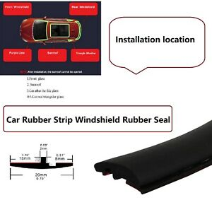 Rubber Seal Trim Prevent Water Leakage Windshield Sunroof Roof Top Window 144