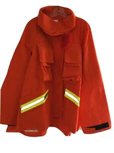 Firefighter Wildland brush Jacket With Reflective Stripes 3xl Barrier Wear