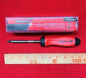 Snap On 95th Screwdriver limited Edition Hard Handle 5 Bit Tip Ssdmr4brxcv New