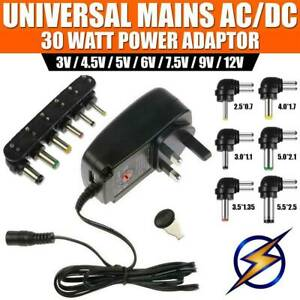 Ac dc Adjustable Voltage Power Supply Adapter Plug Charger Adaptor Universal
