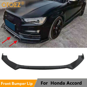 Matt Car Front Bumper Lip Spoiler Splitter Universal Fit 2018 2020 Honda Accord