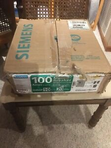 Siemens Main Breaker Load Center 100 Amp 10 space 20 circuit Plug In Value pack