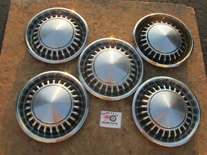 1970 1971 Chrysler Newport New Yorker 15 Wheel Covers Hubcaps Lot Of 5