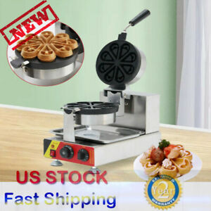 Us Commercial Electric Nonstick Ice Cream Waffle Cone Baker Maker Machine 110v