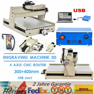 Usb 4 Axis Engraver Cnc 3040 Router Engraving Mill Woodwork Machine Controller