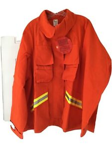Firefighter Wildland brush Jacket With Reflective Stripes 3xl Barrier Wear New