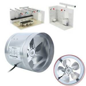 8 inline Ducting Fan Booster Air Cooling Filter Vent Exhaust Blower Fan 420cfm