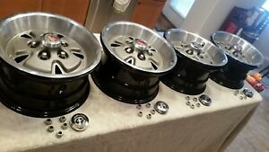 Matching Set Of 1970 1971 Ford Torino Mustang 14 Mag Wheel Covers With Centers