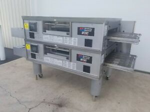 2017 Middleby Marshall Wow Ps670g Double Deck Conveyor Pizza Oven Belt Width 32