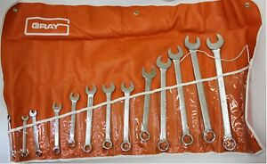 Duro Indestro Easco Sae Open End Combination Wrenches 5 16 To 1 13pc Made Usa