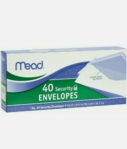Mead 10 Security Envelopes 40 Count 75214