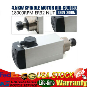 4 5kw Air cooled Spindle Motor Er32 380v 18000rpm Woodworking Cnc Router