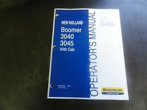 New Holland 3040 3045 Tractor With Cab Operator s Manual 87477123