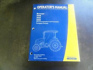 New Holland Boomer 3040 3045 3050 Compact Tractor Operator s Manual 84307323