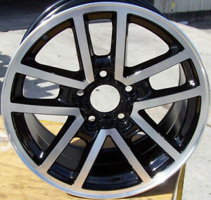05091 Recon Aluminum 17in Wheel Rim 2000 2002 Chevrolet Camaro Ss Machined Black