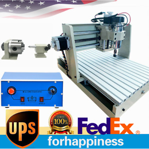 4 Axis 3040 Cnc Router Engraver Woodworking Milling 3d Cutting Machine Usb Port