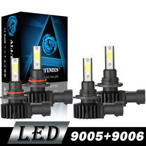 9005 9006 Combo Led Headlight Bulbs For Chevy Silverado 1500 2500 Hd 2001 2006