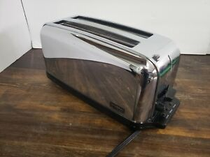 Waring Commercial Toaster Wct704 Tested Works Long Slot 4 Slice Free Shipping