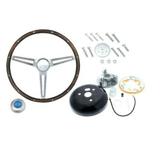 Grant 967 Classic Nost Wood Steering Wheel Chevy W install Kit