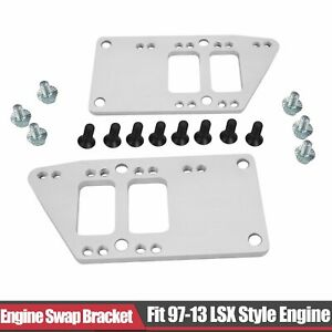 Engine Motor Mount Brackets Swap Kit Fit Chevy 5 7l 350 To Ls1 Retro Ls Adapter