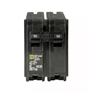 Square D 50 Amp 2 pole Circuit Breaker Homeline Hom250