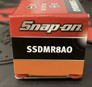 Snap on Ratcheting Screwdriver Ssdmr8bo New With 5 Bits In Box Orange
