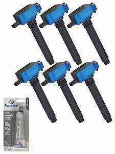 Set Of 6 High Performance Ignition Coil Tune Up Grease For Chrysler 300 Uf648
