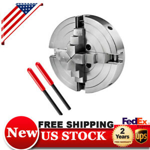 6 Steel 4 Jaw Lathe Chuck Self centering Jaws Cnc Milling Drilling Machine New